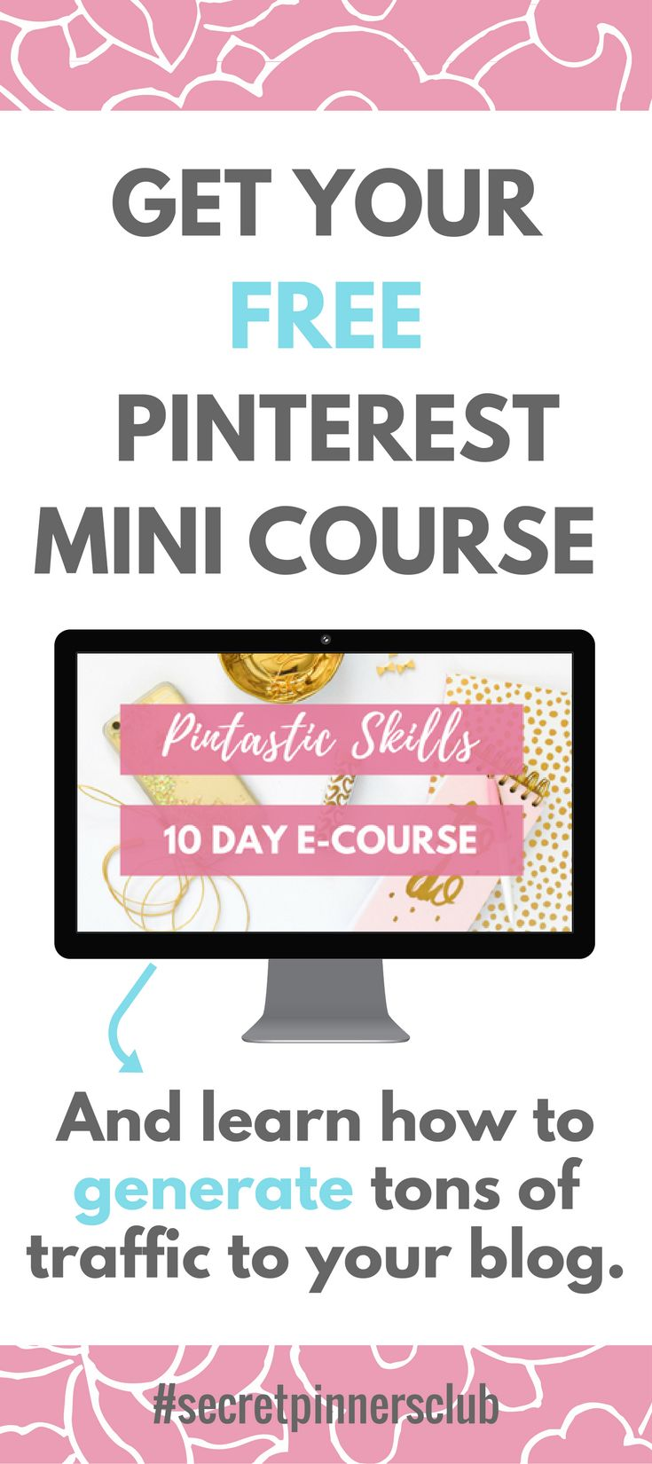 Learn how to use Pinterest to generate tons of traffic to your blog. This free 10-day course walks you through setting up a solid foundation for success on Pinterest along with my best tips and tricks.