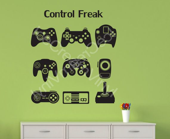 Gamer Wall Decal Video Game Man Cave Kids Room Vinyl Wall Decal Teen Room Boy and Girl Room Decor
