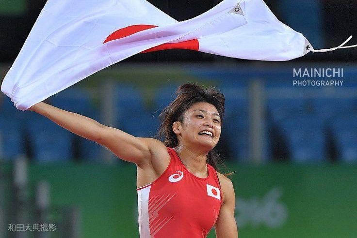 リオ五輪のレスリング女子フリー58キロ級決勝で伊調馨が金メダルを獲得。五輪史上初の女子個人種目4連覇を成し遂げました。#リオ2016 #リオ五輪