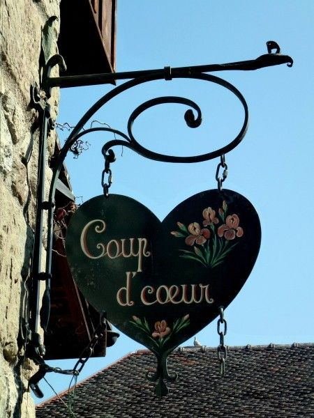 Wonderful sign/enseigne in Yvoire, France.