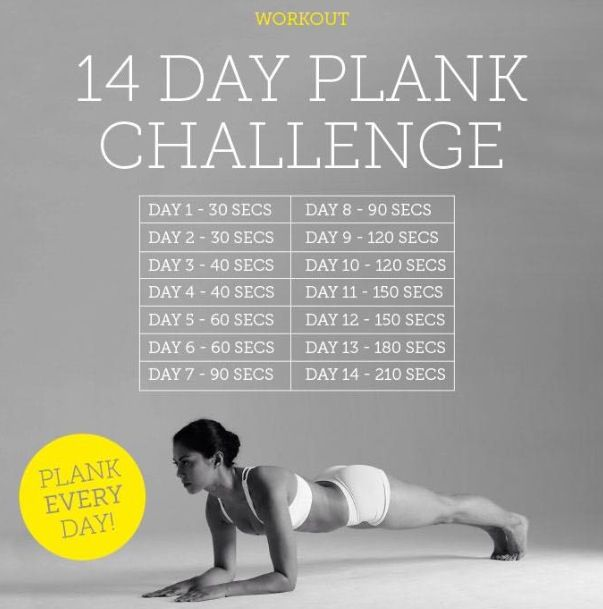 21 Best Plank Challenges Images On Pinterest Healthy