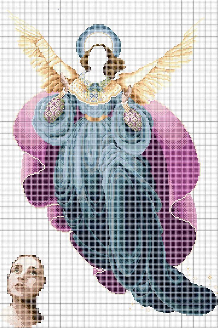 Schema punto croce Angelo Del Mattino