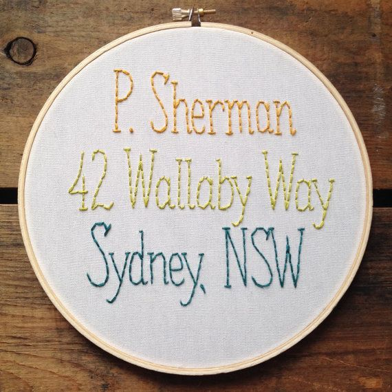 P. Sherman  Finding Nemo embroidery hoop by itsonlyyou on Etsy