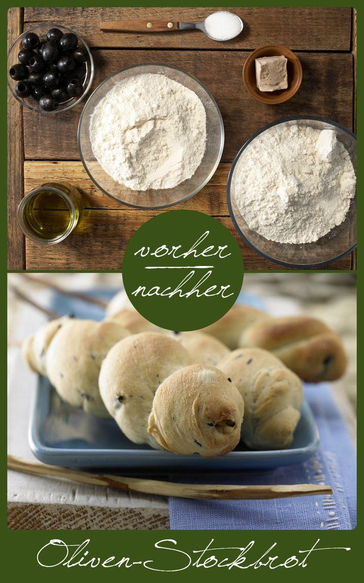 http://eatsmarter.de/rezepte/oliven-stockbrot Die perfekte Beilage für gemütliche Grillabende!