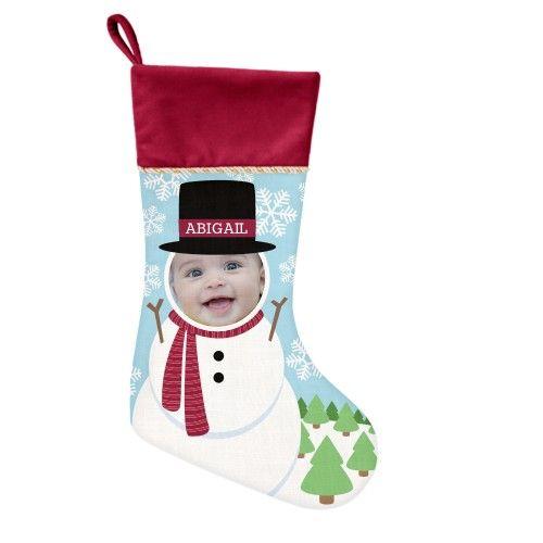 I'm A Snowman Christmas Stocking, Cranberry