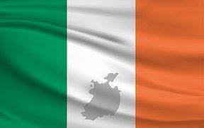 Irland, Flagge, Fahne, Banner, Grün