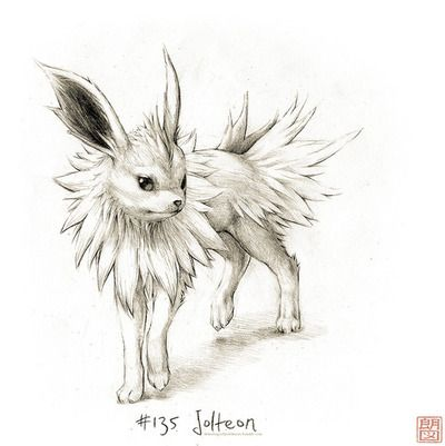 #135 Jolteon - Drawings of Pokémon
