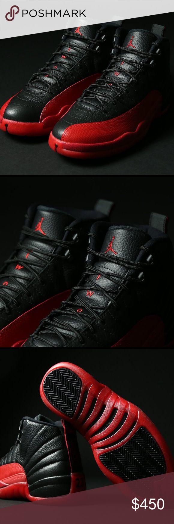 Jordan 12s Flu Game •Jordan 12 Flu Game (Men Sizes) Jordan Shoes Sneakers