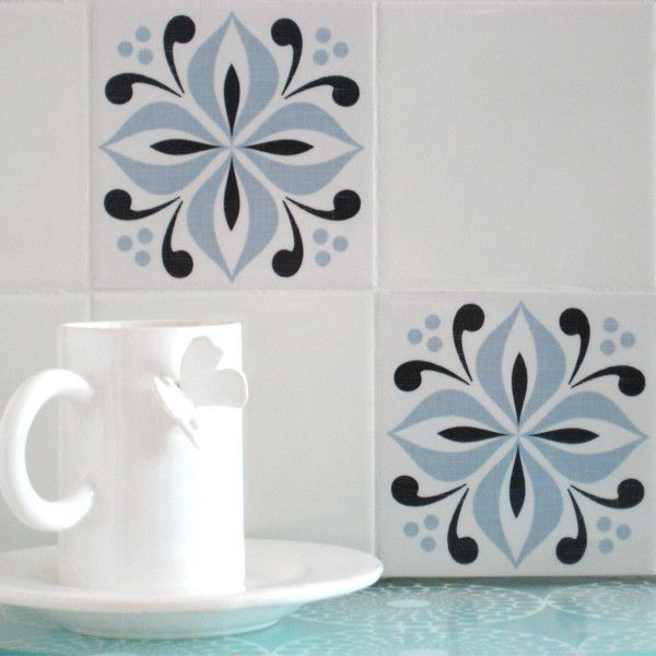 Mibo Tile Tattoos in Ventor French Blue & Black