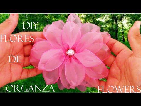 Download video: DIY flores en cintas de organza- Dahlias flowers in organza…