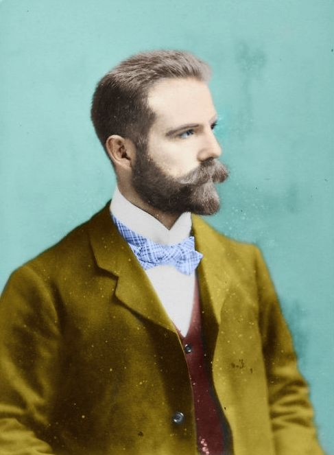 Handsome Victorian Man - Colorized