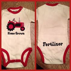 Baby onesie for a farm baby!!! Too cute!!!
