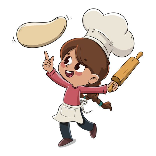 Child Makes A Pizza Or Cooks Cartoon Chef How To Make Pizza Cartoon Drawings