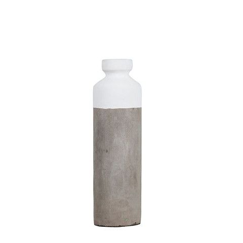Concrete Dipped Vase White Tall – THAT LITTLE SHOP