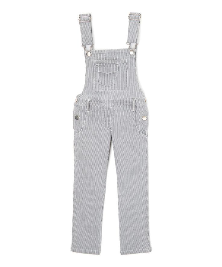Slate Railroad Peppar Painter Overalls - Girls