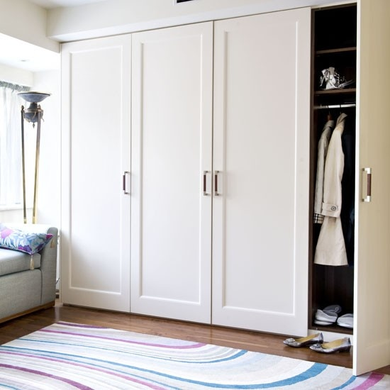 Classic storage for the bedroom.  A satin magnolia doesn't date and love how you can add lots of colour to the room then!