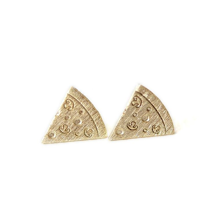 Fashion pizza stud earrings Interesting creative design pizza stud earrings Delicious food model stud earrings for women