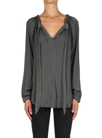 Look Twice Blouse in Khaki