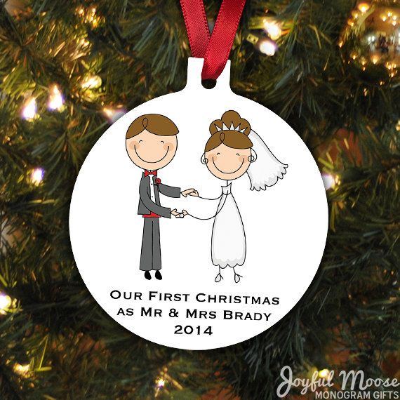 Our First Christmas Ornament - Personalized Christmas Ornament - Wedding Christmas Ornament - Newlywed Christmas Gift #bestofEtsy #gifts