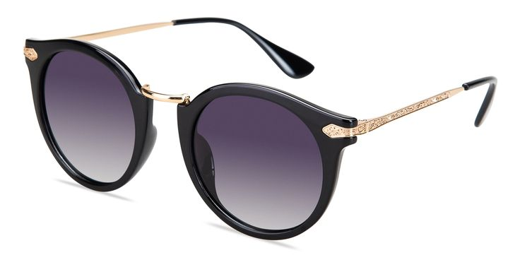 Round Black Prescription Sunglasses