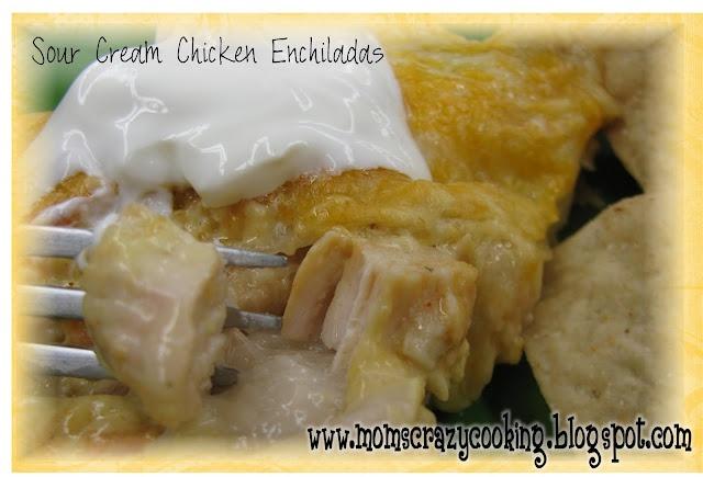 Sour Cream Enchiladas (MADE  TESTED - Great Recipe)