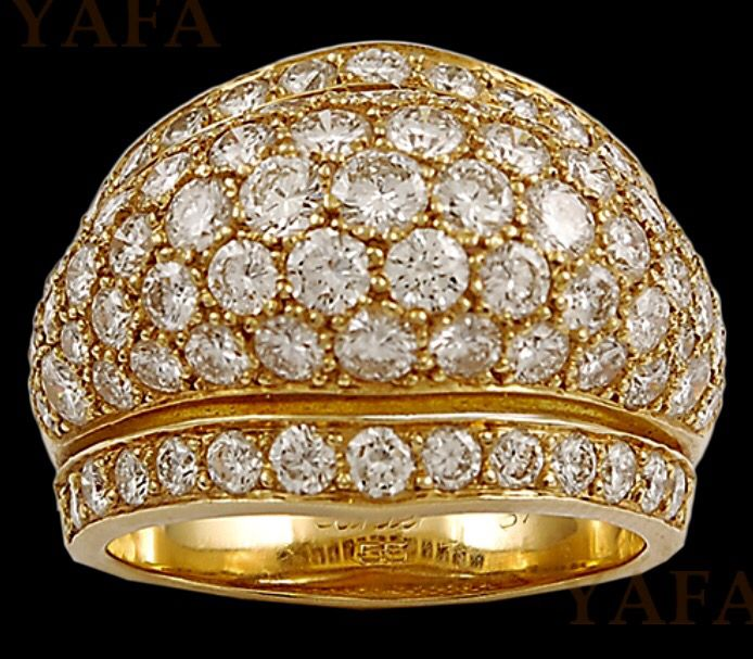 Cartier Diamond and Gold Dome Ring