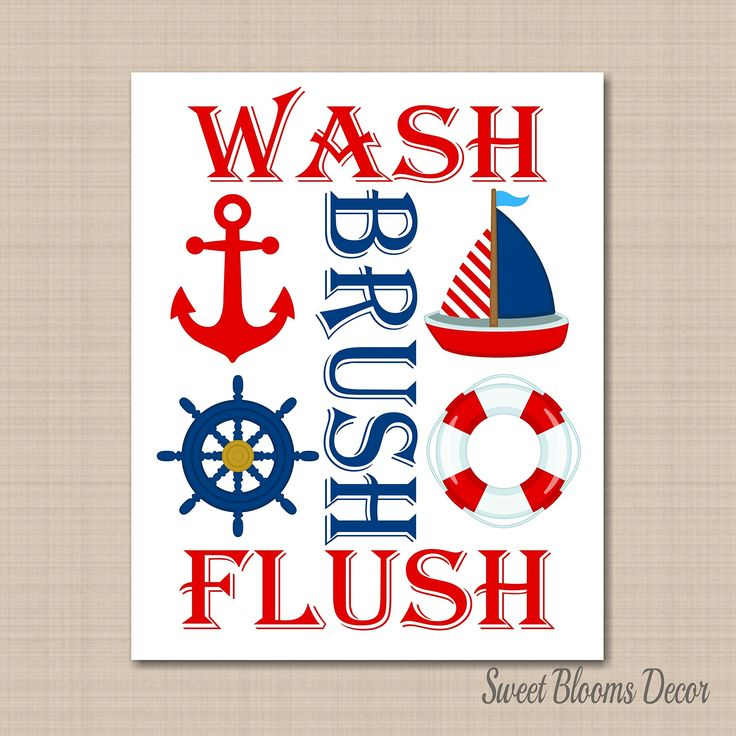 Nautical Bathroom Wall Art,Boy Nautical Wall Art,Nautical Bathroom Wall Art,Red Blue Nautical Bathroom Art,Boat Anchor Wall Art-8x10 UNFRAMED PHOTO PRINT (NOT CANVAS). PRINTS: Includes one(8x10) UNFRAMED prints on 68lb. UltraPro Satin Luster Photo Paper.NOT CANVAS. You will need your own frames. Each print set will be inserted in a clear sleeve and packed in a rigid flat mailer. Prints will be mailed via USPS first class mail with tracking (NOT UPS).
