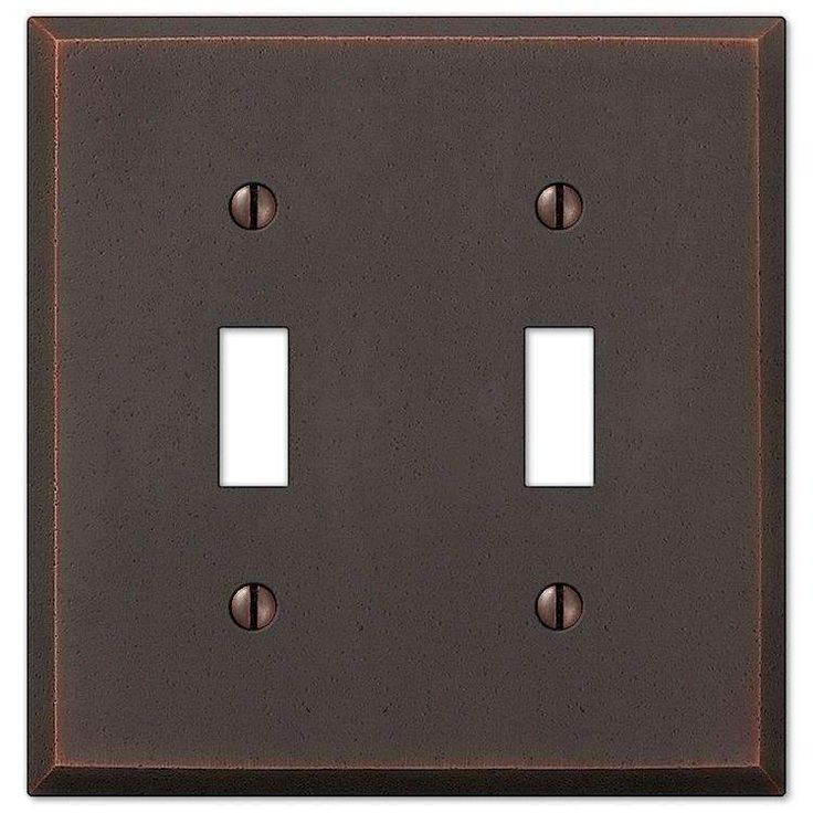 Best Manhattan Aged Bronze Double Toggle Plates On Wall It 400 x 300