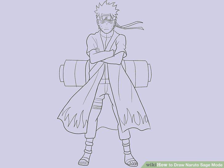 Bildresultat For Naruto Sage Mode Drawing Full Body Black Line
