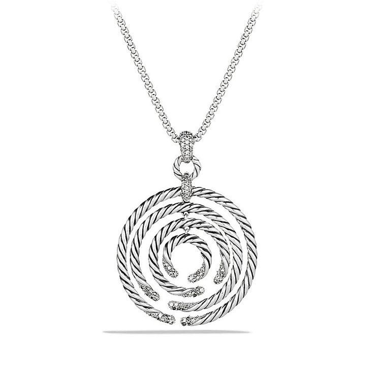 Willow Medium Pendant Necklace with Diamonds