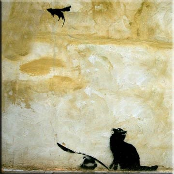 banksy cat and mouse
