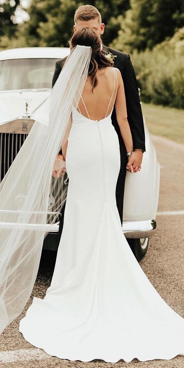 30 Simple Wedding Dresses For Elegant Brides