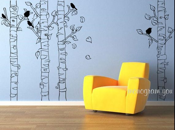 Best Wall Decals Images On Pinterest Apartment Ideas Mural - Yellow bird wall decals