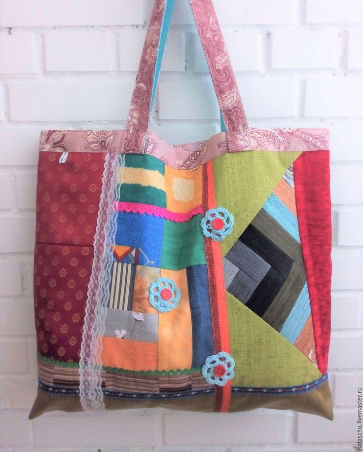 Купить Сумка текстильная для модных мамочек в стиле хиппи на каждый день - комбинированный