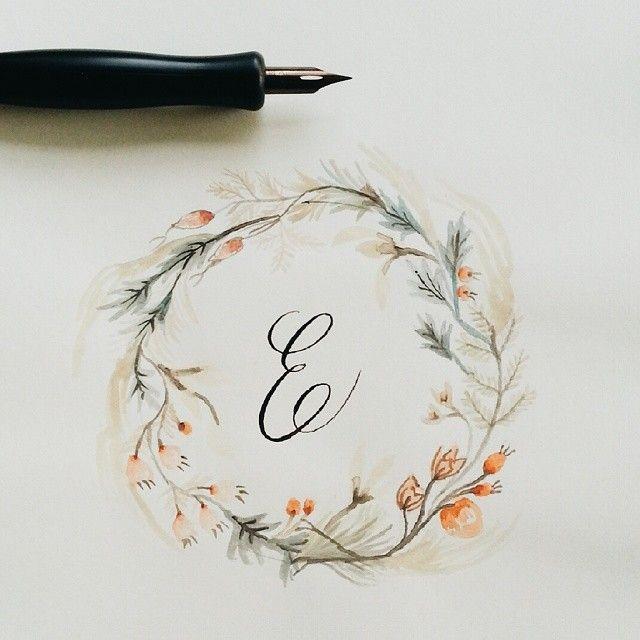 Cute floral embellished alphabet