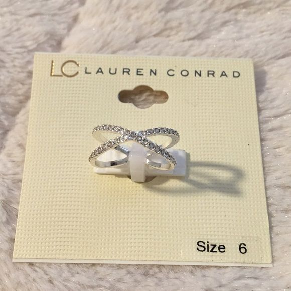 LC Lauren Conrad Silver Twist Ring Brand new with tags. Never been worn. LC Lauren Conrad Jewelry Rings