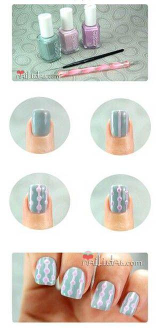 Essie brand nail polish tutorial nail art geometric easy