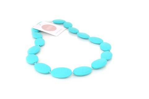 Harper and Hudson non-toxic teething jewels for mum + bub // chewable, washable, baby safe, eco-friendly, BPA free and waterproof Grace - Turquoise