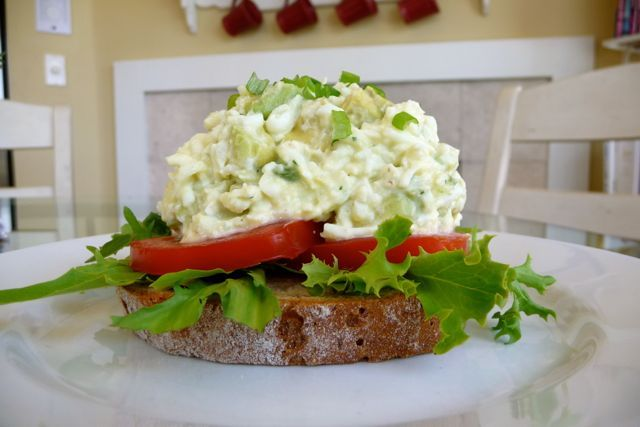 The best Avocado Egg Salad Sandwich - so creamy and delicious!