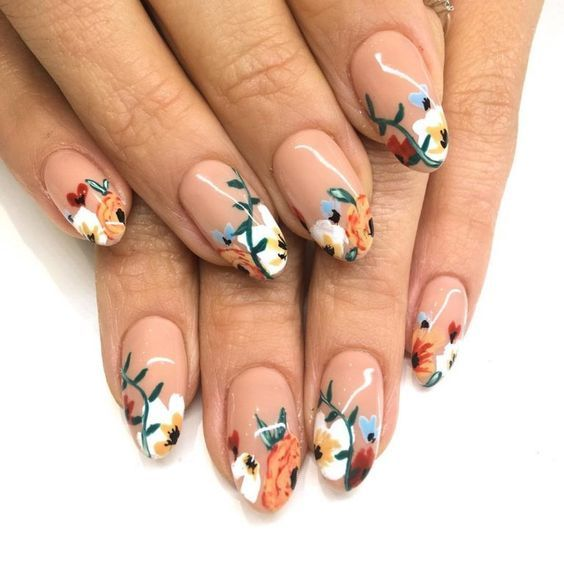 50+ Floral Nail Art for Summer and Spring Ideas