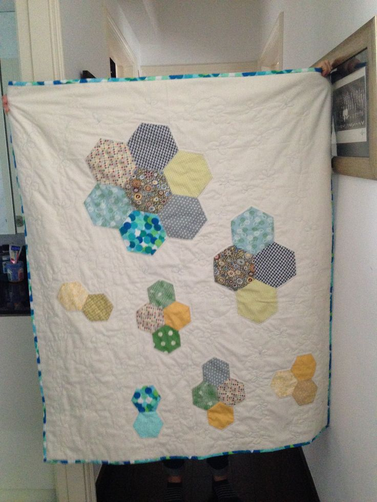 Hexi charity quilt