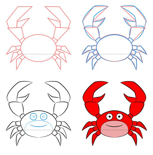 How to draw a simple cartoon crab filled with beautiful effects! :) #howtodraw #cartoonanimal #cartooncrab #crab