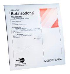 Betaisodona Wundgaze (Salbengaze) 10 cm x 10 cm  > Wundantiseptika  10x Wundauflagen mit Keimtötender Wirkung  15,51€