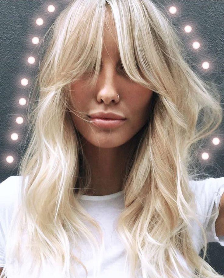 "493 Likes, 4 Comments - Gevir (@gevir) on Instagram: ""I love 😍 💚 #hairinspiration #regram #headstudio #blondehair #fringe #70s #wavyhairdontcare…"""