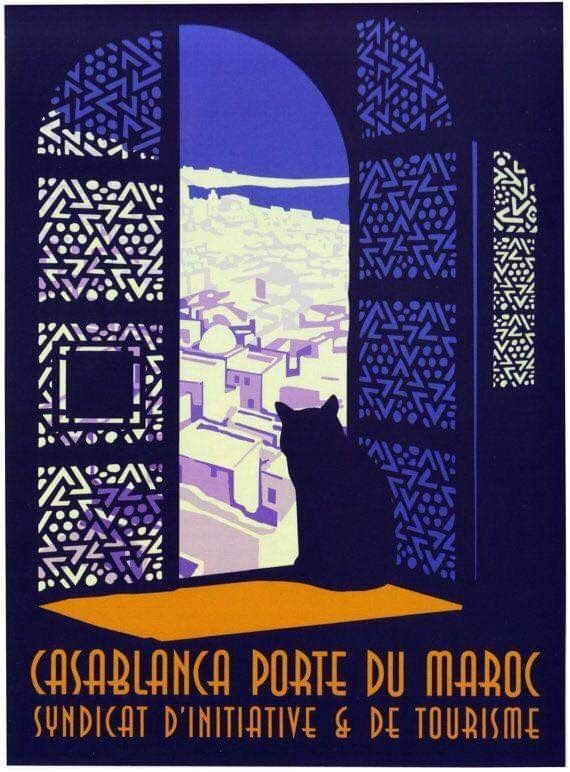 Vintage French Morocco Tourism Poster A3//A2//A1 Print