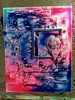 Leonie Pujol: step by step tutorial from Leonie for creating mixed media cards or canvas