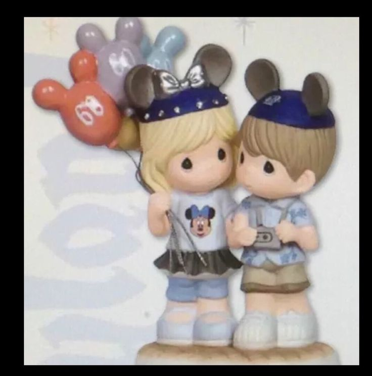 Disney Precious Moments 60th Disneyland Celebration Figurine