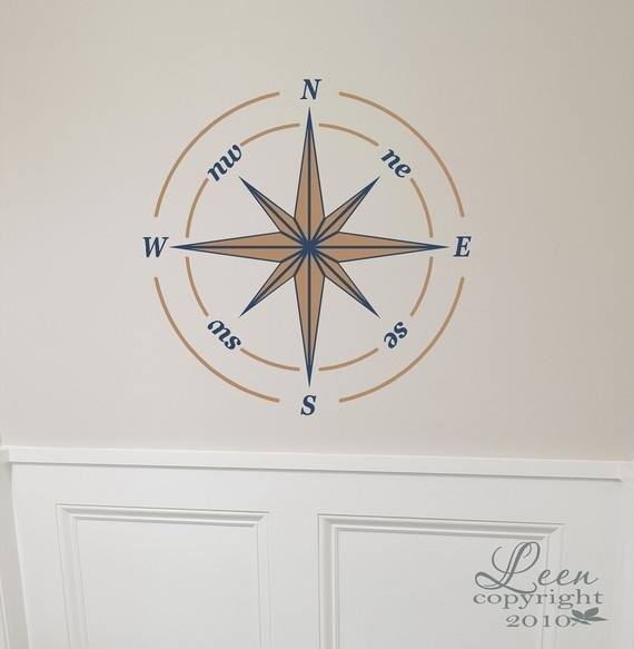 Nautical Compass Rose Wall Decal. Do I want to order this for the nursery?