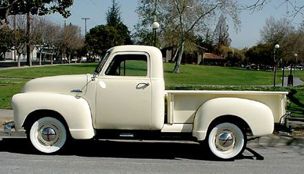 truck, chevy, classic, vintage, 1953, pickup, car, old