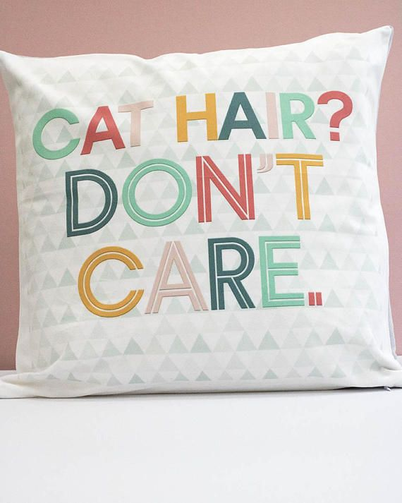 This listing is for an original LEAPUP design cushion cover Made with Woof by British designer Leanne Warren. The Cat hair? Dont care design is the perfect decor for cat lovers and would make a great addition to any modern home or contemporary living space. The design uses bright